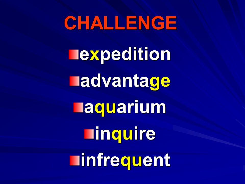 Spelling Words Consonants /j/, /ks/, and /kw/ expect excited fudge Texas exercise excellent quart liquid quit expert
