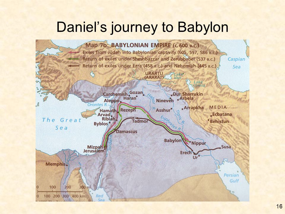16 Daniel's journey to Babylon