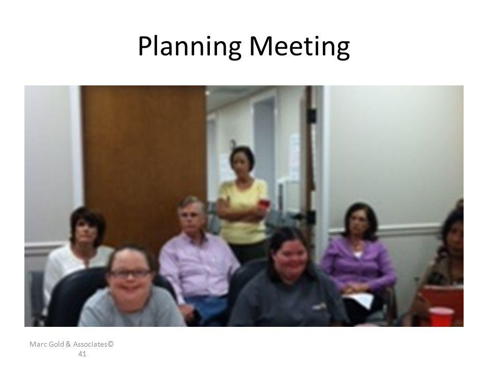Planning Meeting Marc Gold & Associates© 41