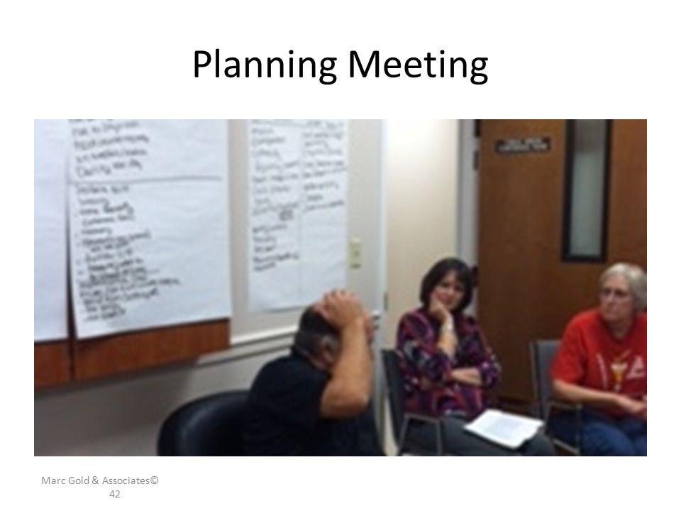 Planning Meeting Marc Gold & Associates© 42