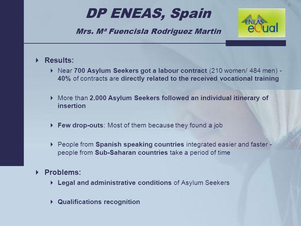 DP ENEAS, Spain Mrs.