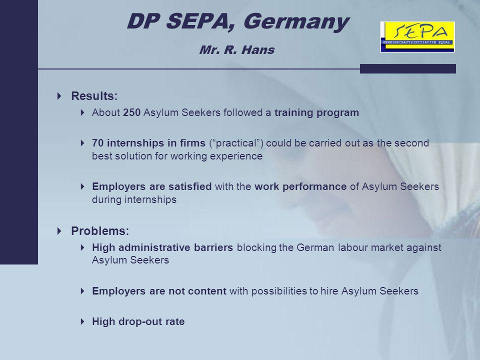 DP SEPA, Germany Mr. R.