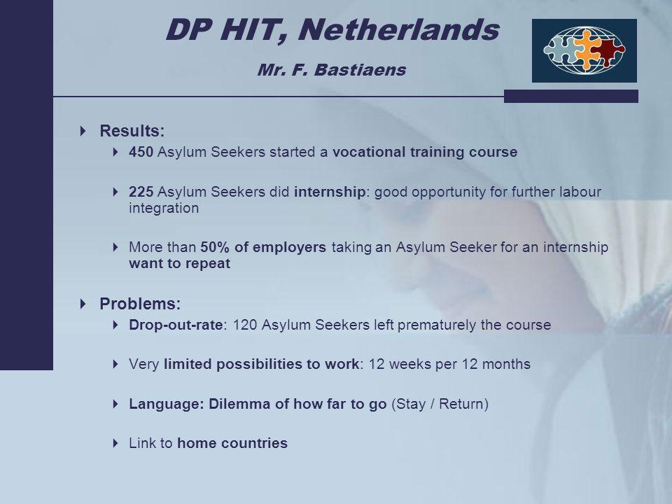 DP HIT, Netherlands Mr. F.