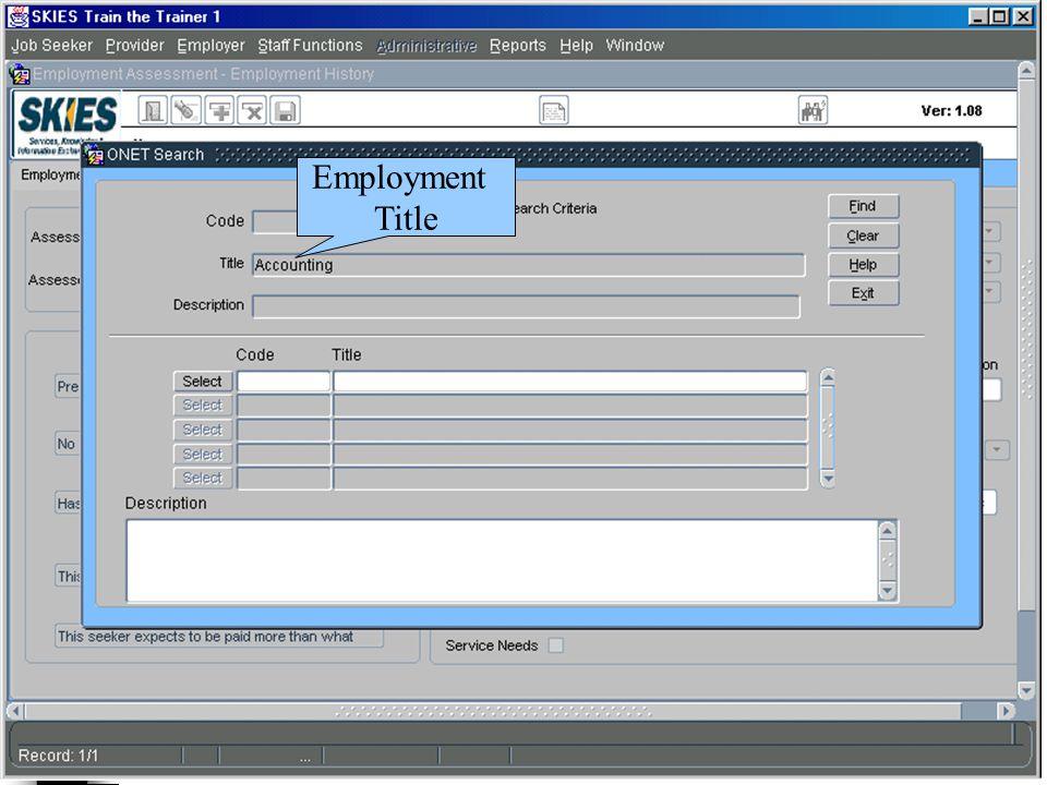 Employment Title
