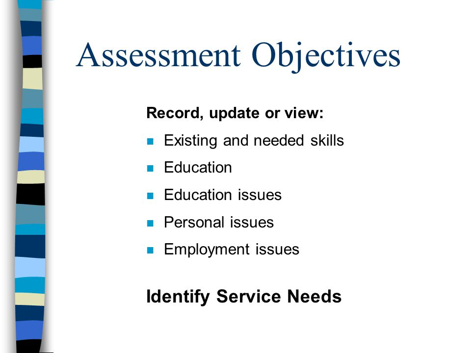 n Employment Questions Does Seeker have ability to identify an employment goal.