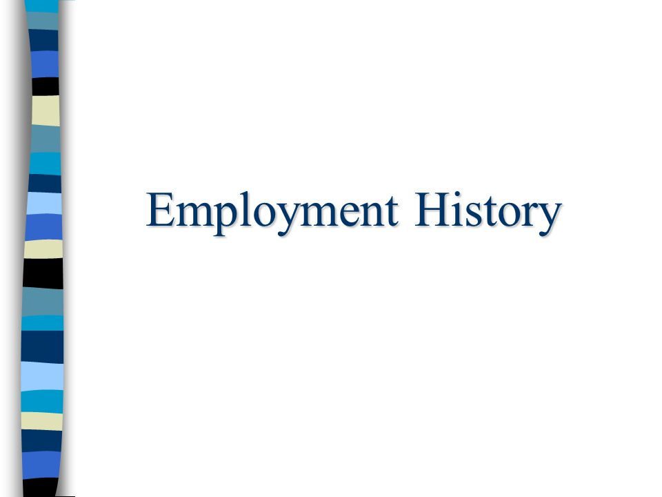 Employment History