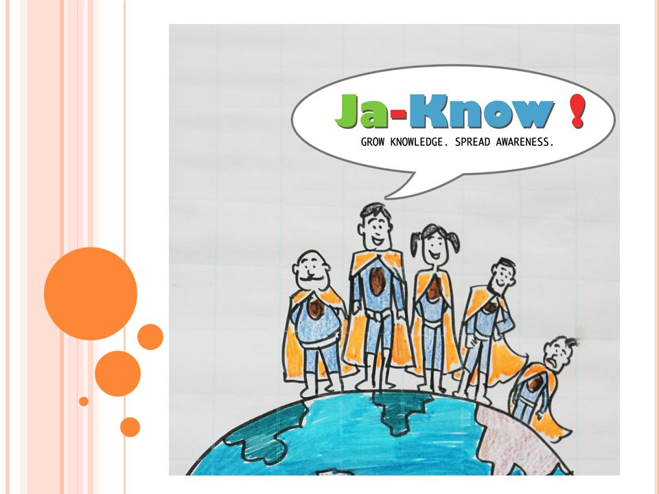 W HAT IS J A K NOW An establishment with a mission to grow awareness and spread knowledge by Efforts from Individuals Collaborating with NGOs Tie up with corporates and philanthropists Workshops with educational institutions Inputs from legal bodies and counseling organizations Partnering with event management groups