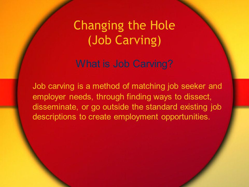 Autism and Employment Making It Work  Sometimes job placement for a person with a disability, including autism, is like trying to fit a square peg into a round hole.