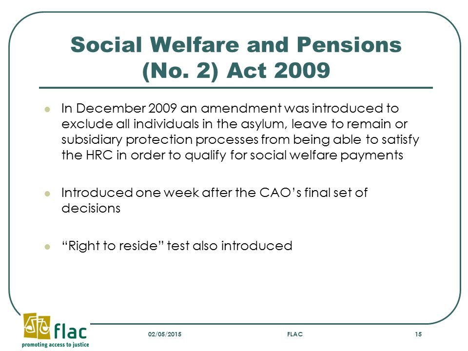 Social Welfare and Pensions (No.
