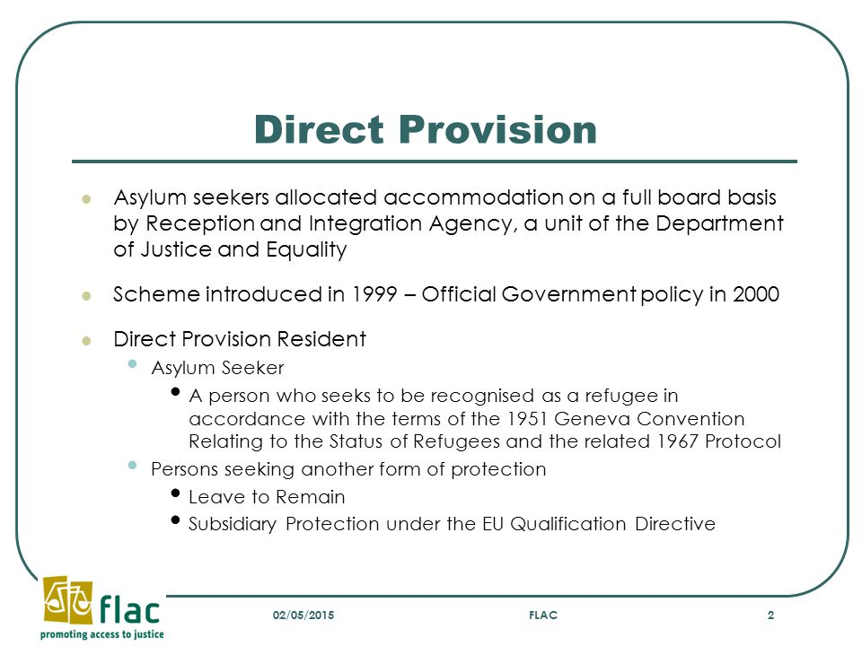 Strategic cases taken by FLAC In 2008 four asylum seekers were found habitually resident and granted a payment on appeal but the Department of Social and Family Affairs refused to make payment The Department sought a review of these decisions by the CAO under section 318 of the Principal Act These appeals had been taken by OPEN, Integrating Ireland and FLAC In five further similar appeals where a negative decision was reached, FLAC sought a review by the CAO 02/05/2015FLAC13