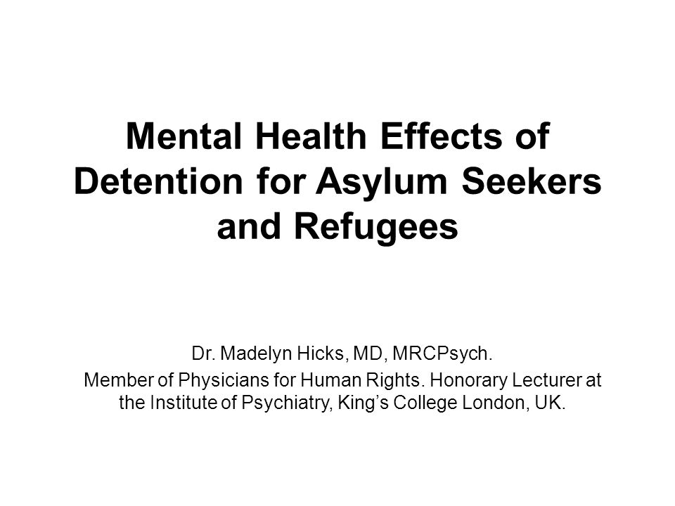 References Continued Physicians for Human Rights and The Bellevue/NYU Program for Survivors of Torture.