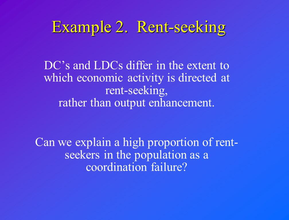 Agent's decision tree Cash crop producer Subsistence producer Rent seeker 5 10 if there are no rent-seekers 8 if producers do not retreat to subsistence
