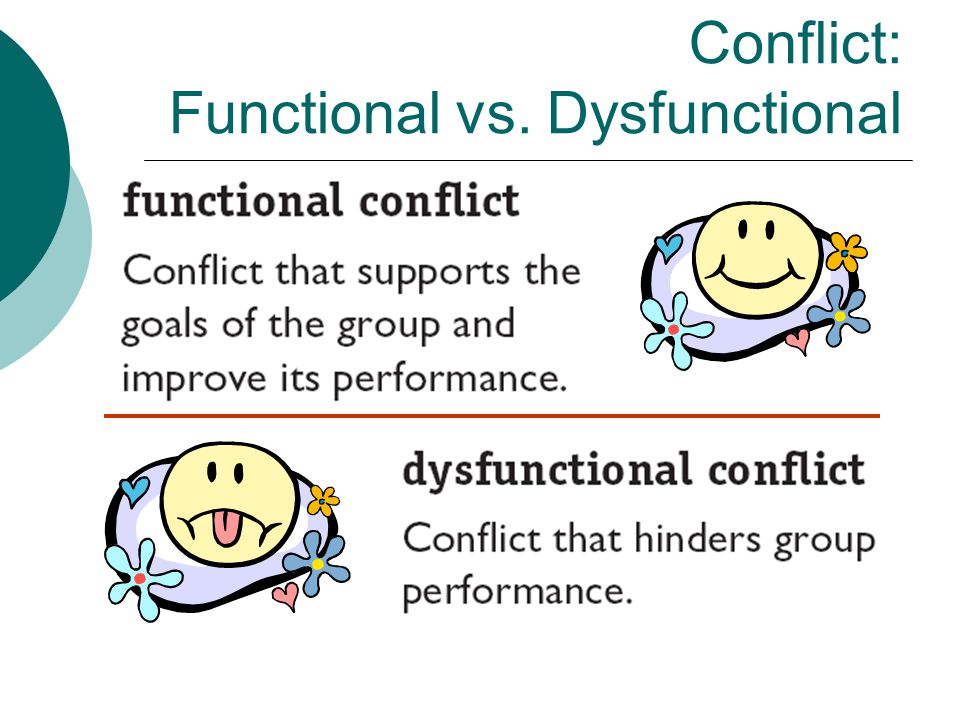 Conflict: Functional vs. Dysfunctional