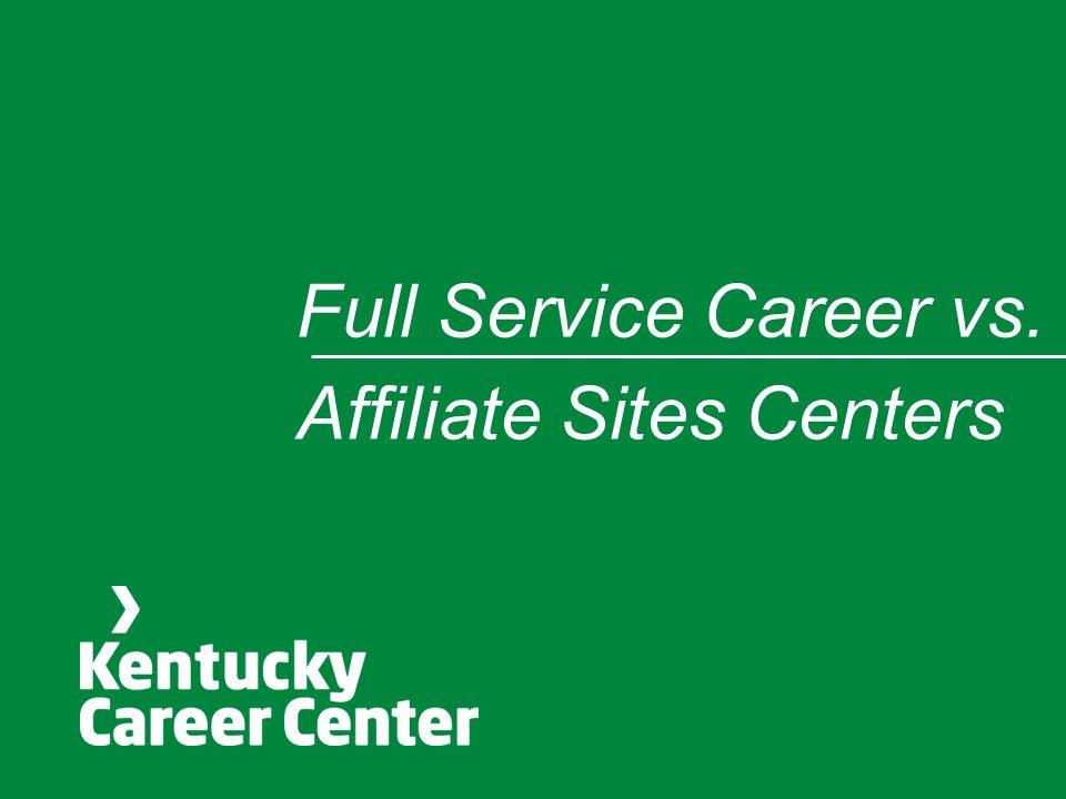 Full Service Career vs. Affiliate Sites Centers