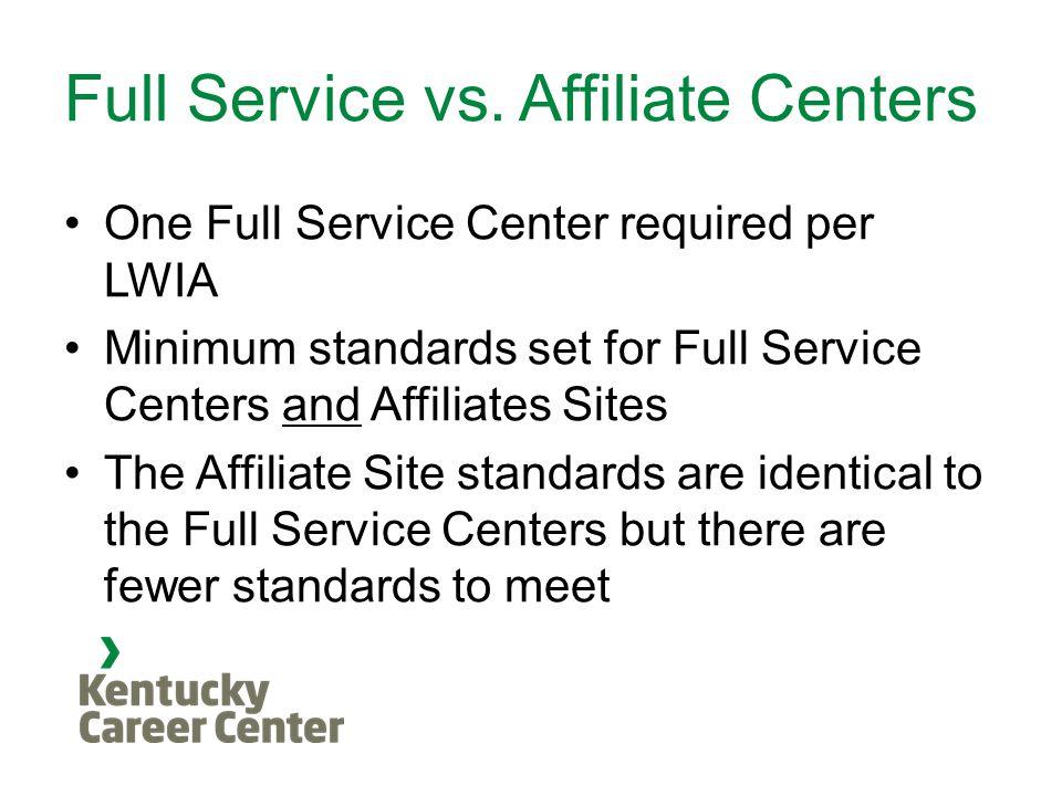 Full Service vs.
