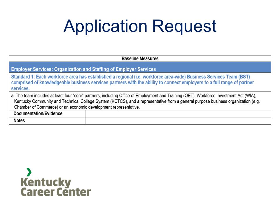 Application Request