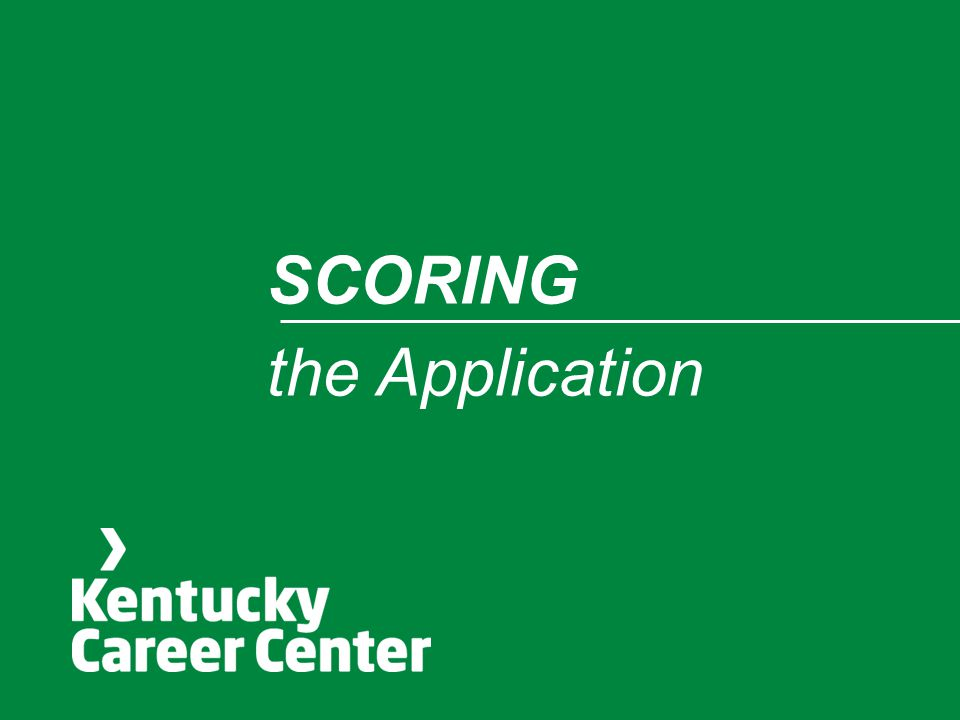 SCORING the Application