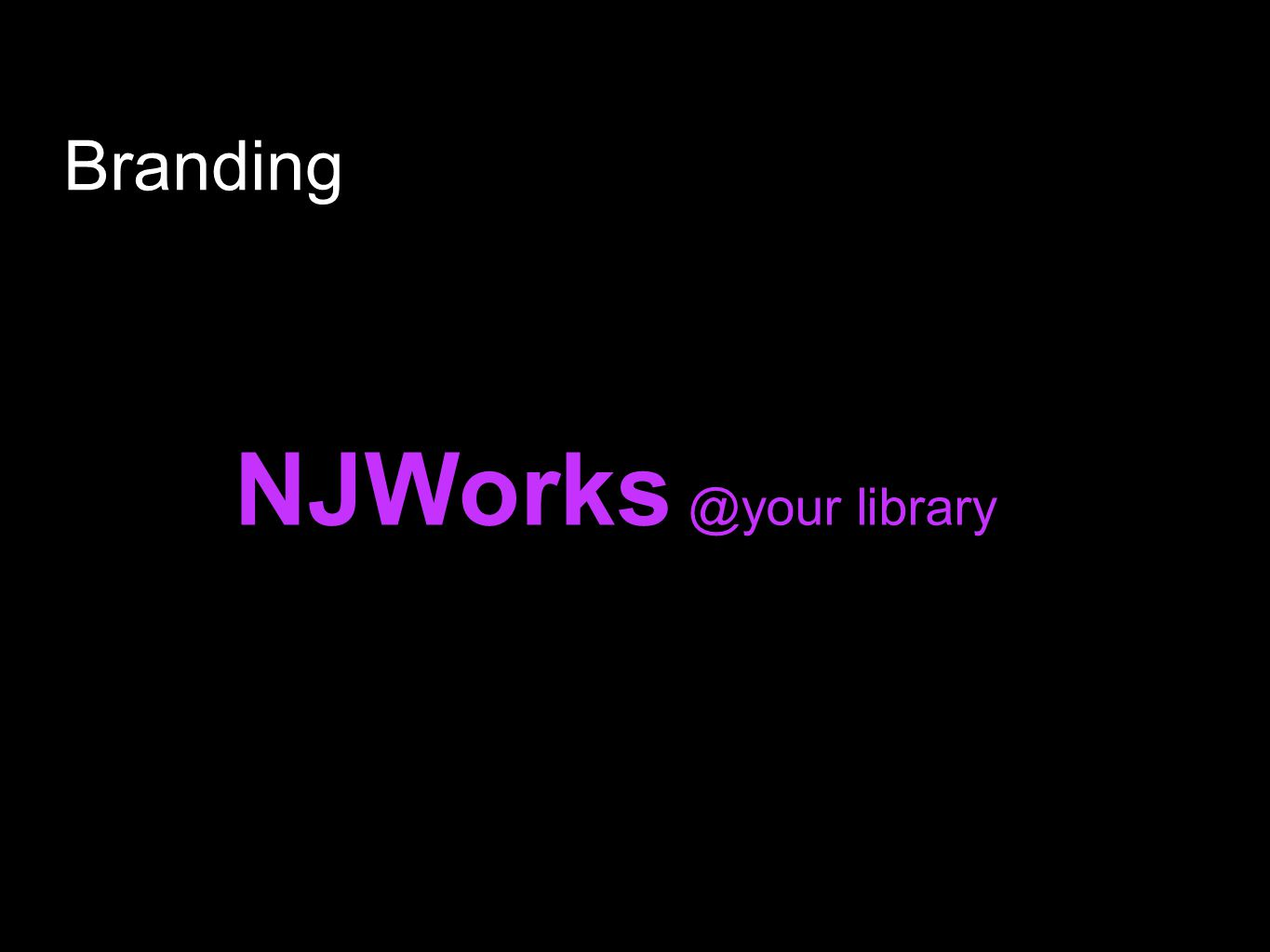 NJWorks @your library Branding