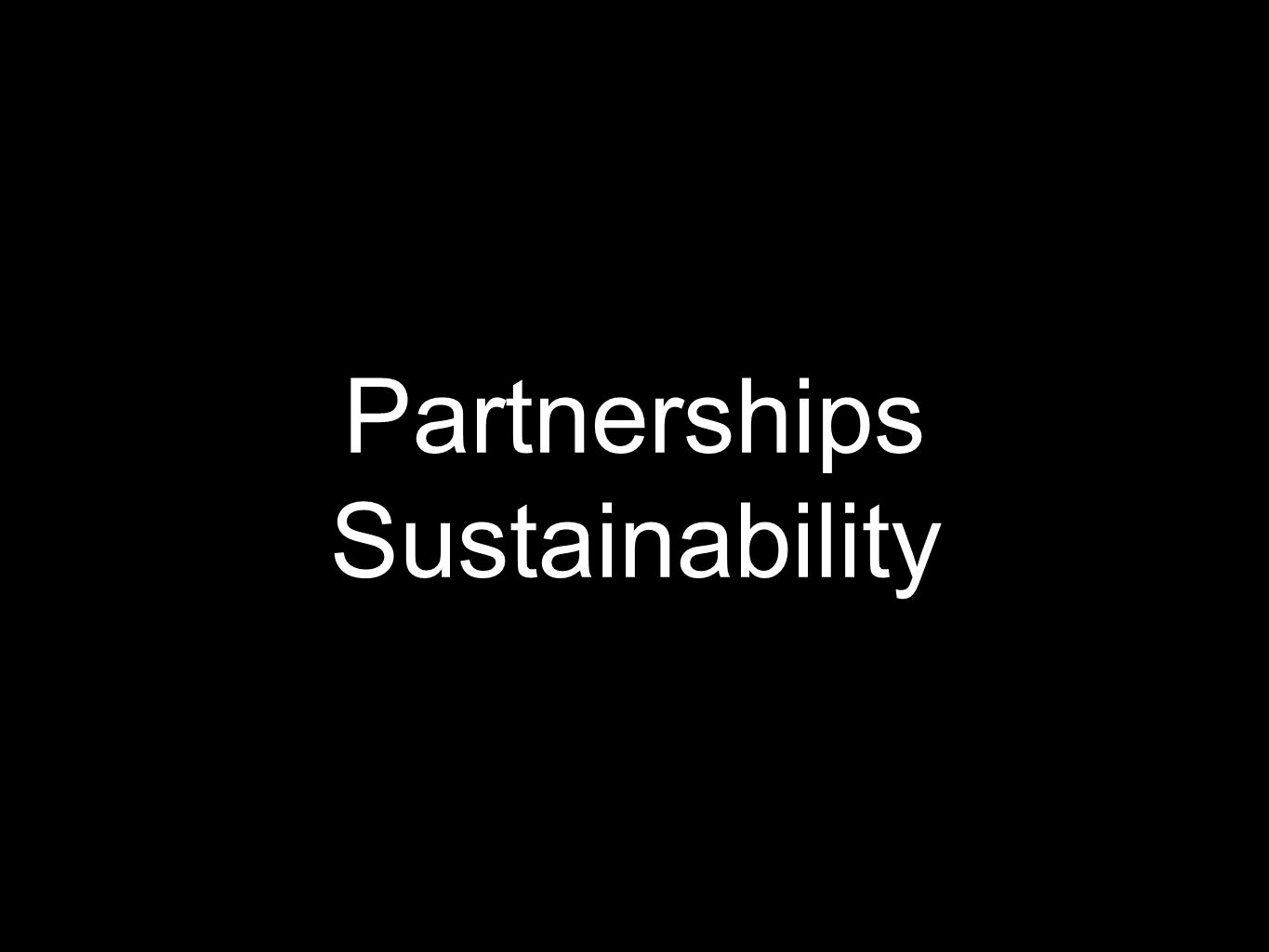 Partnerships Sustainability