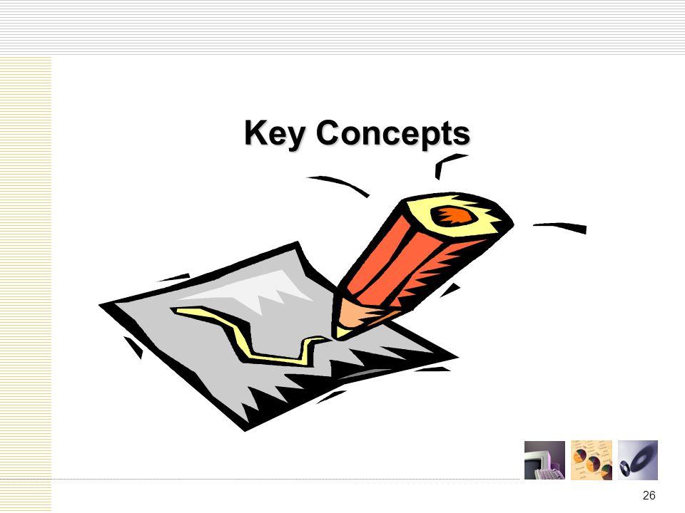 26 Key Concepts