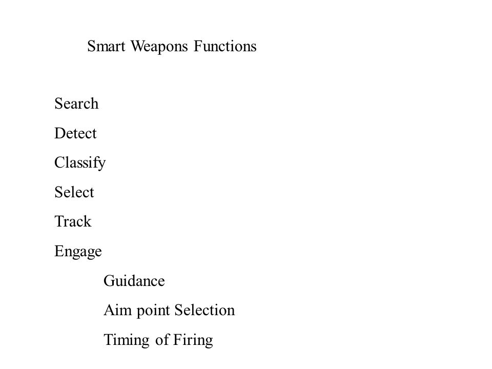 Army Smart Weapons Systems SYSTEM NOMENCLATURE OVERVIEW 4.