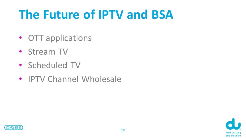 The Future of IPTV and BSA OTT applications Stream TV Scheduled TV IPTV Channel Wholesale 10