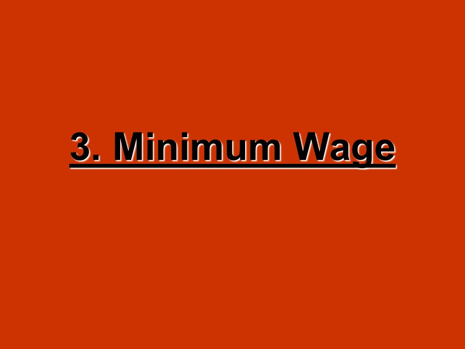 3. Minimum Wage