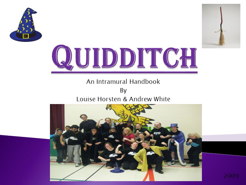 Quidditch is an intramural sport based loosely on J.K Rowling's fictional Harry Potter series.