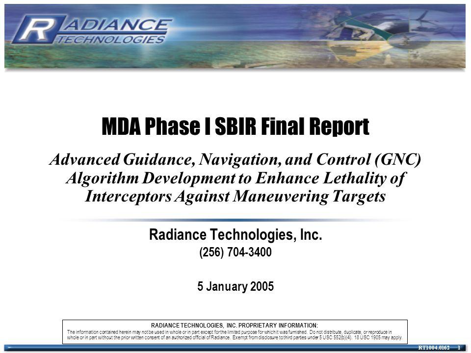 RADIANCE TECHNOLOGIES, INC.