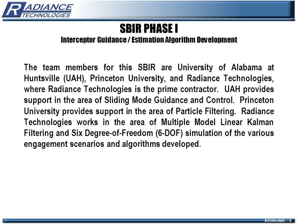 RT1004.0162 13 Autopilot Used in 6-DOF Simulation Guidance / Estimation Studies