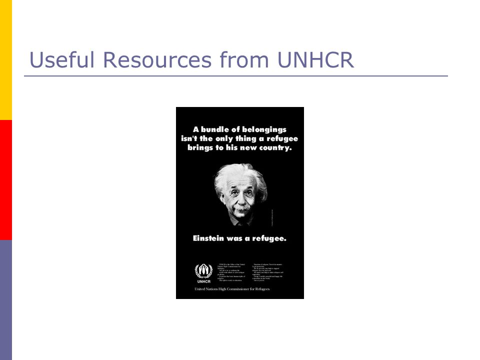 Useful Resources from UNHCR