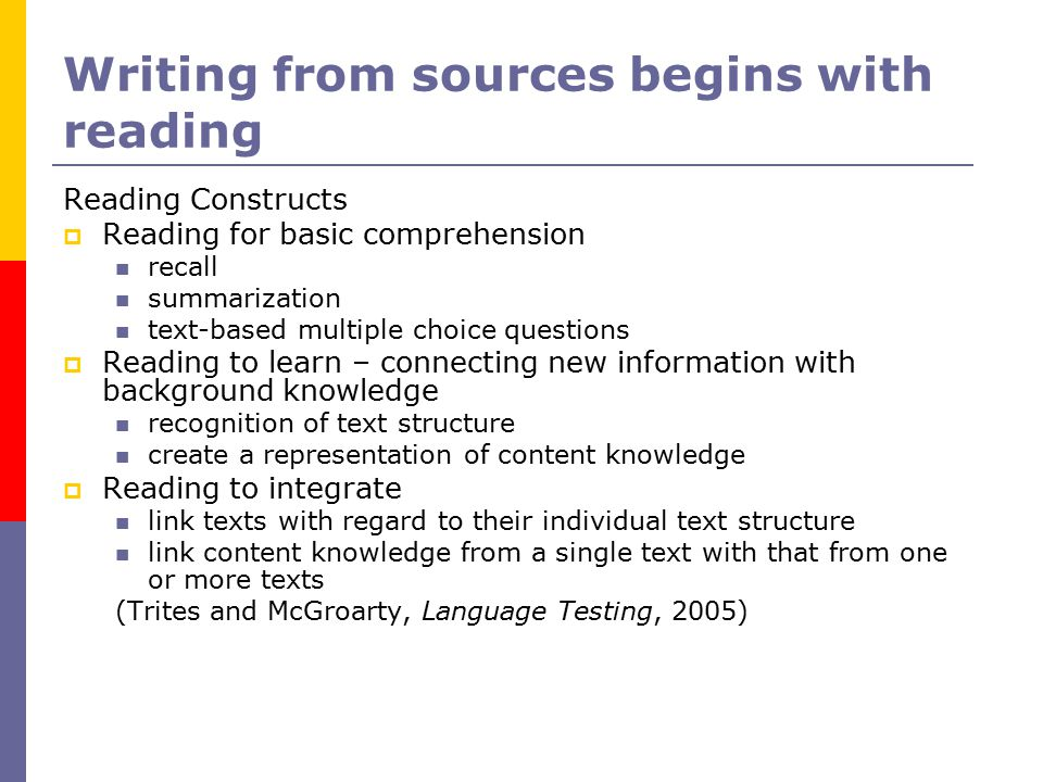 Reading to Learn  Learning content When the linguistic load rises, can students still learn new content from what they are reading.