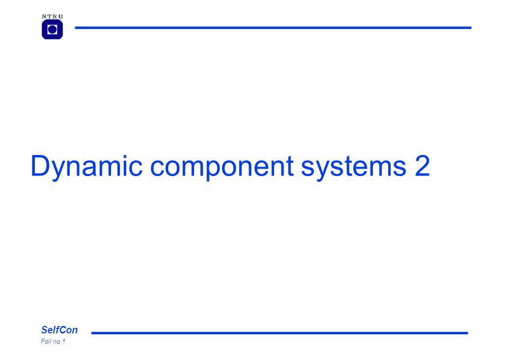 SelfCon Foil no 1 Dynamic component systems 2