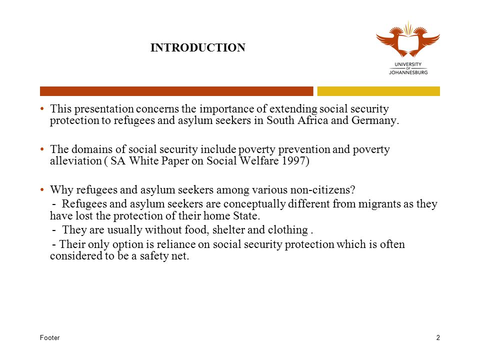 Footer13 CONCLUSIONS It is a well axiomatic fact that refugees and asylum seekers are in a helpless and deplorable condition and are unable to provide for themselves.