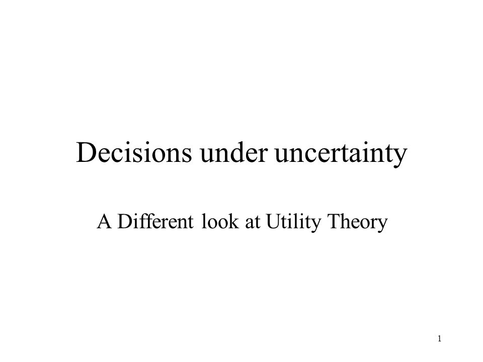 2 Overview The author says that economic decisions made under uncertainty are essentially gambles.
