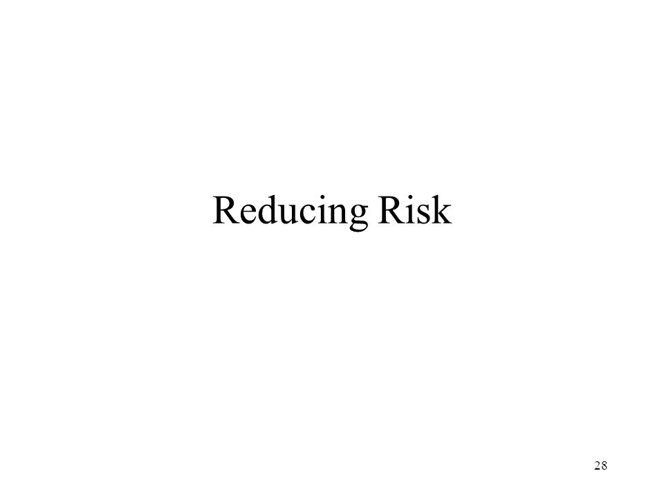 28 Reducing Risk