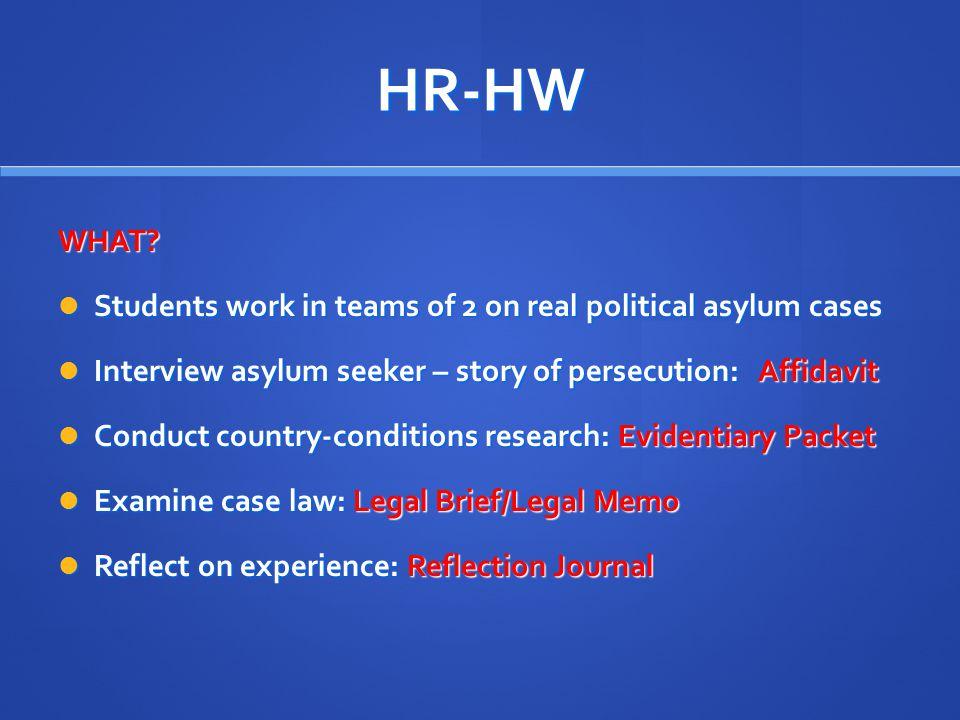 HR-HW WHAT.