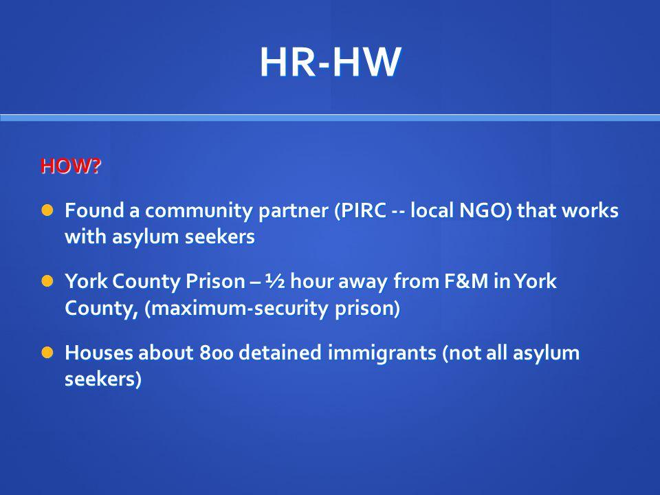 HR-HW HOW.