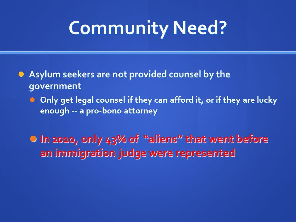 Community Need.