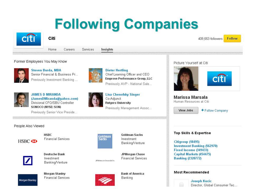 Following Companies