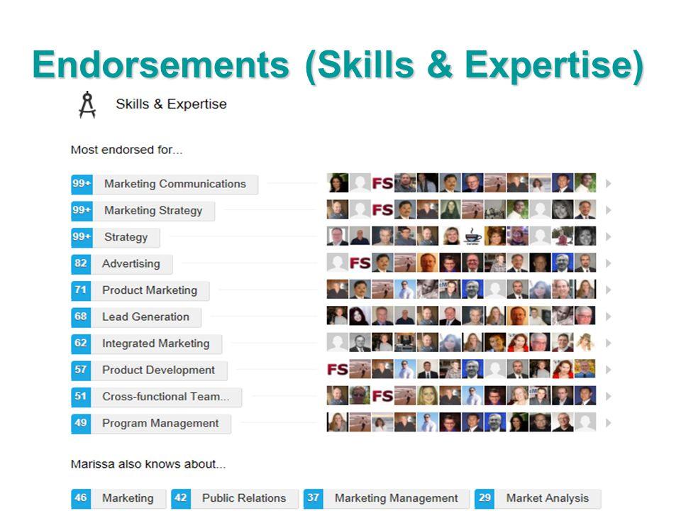 Endorsements (Skills & Expertise)