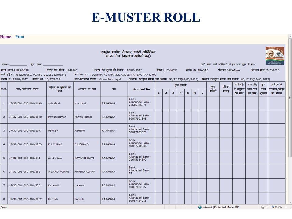 E-MUSTER ROLL