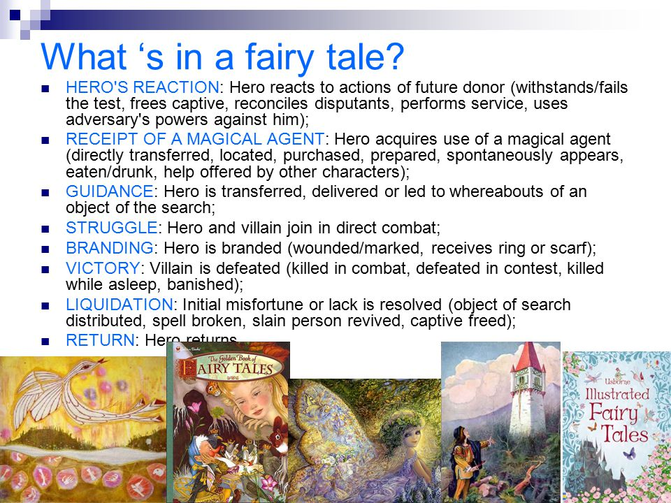 What 's in a fairy tale? HERO'S REACTION: Hero reacts to actions of future donor (withstands/fails the test, frees captive, reconciles disputants, per