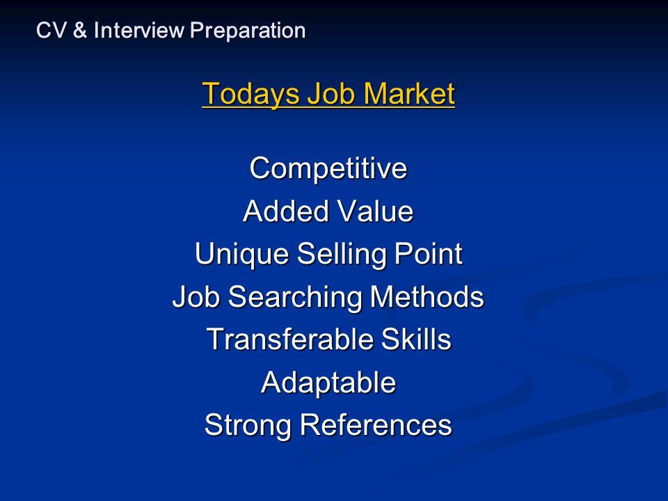 CV & Interview Preparation Sample CV….