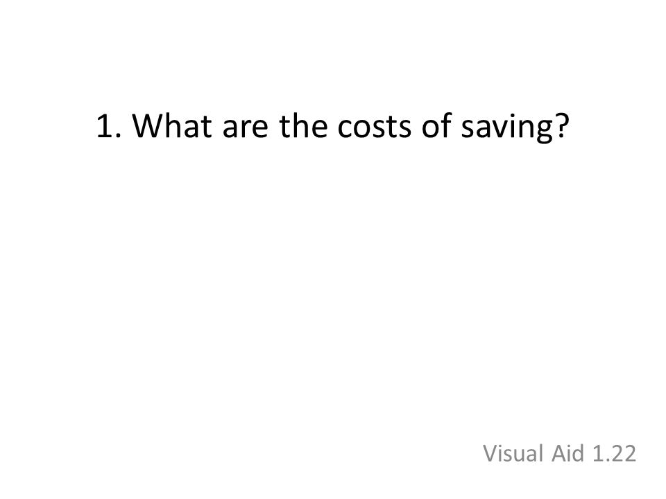 1. What are the costs of saving Visual Aid 1.22
