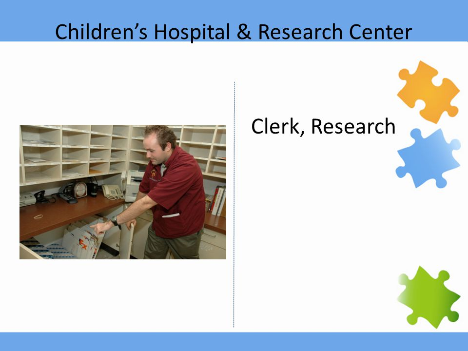 Children's Hospital & Research Center Clerk, Research