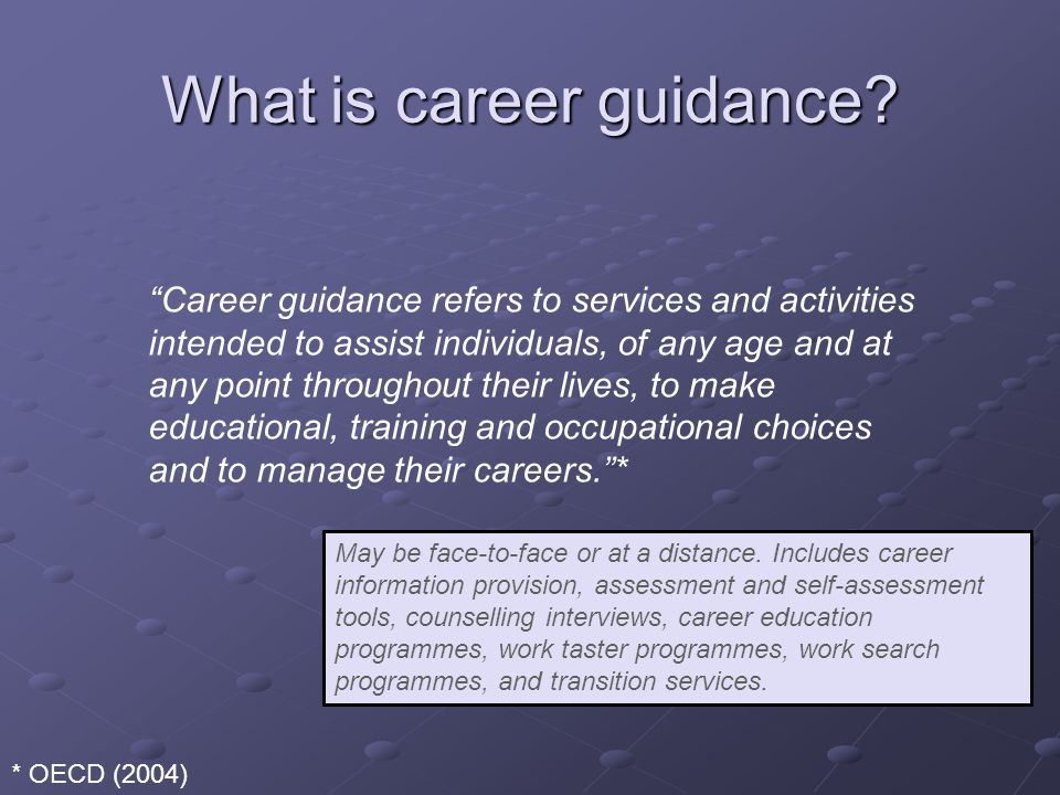 What is career guidance.