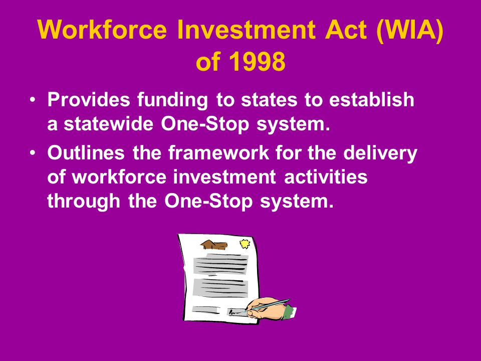 Provides funding to states to establish a statewide One-Stop system.