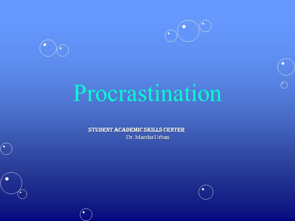 What is Procrastination.Procrastination is the avoidance of doing a task that needs to be done.