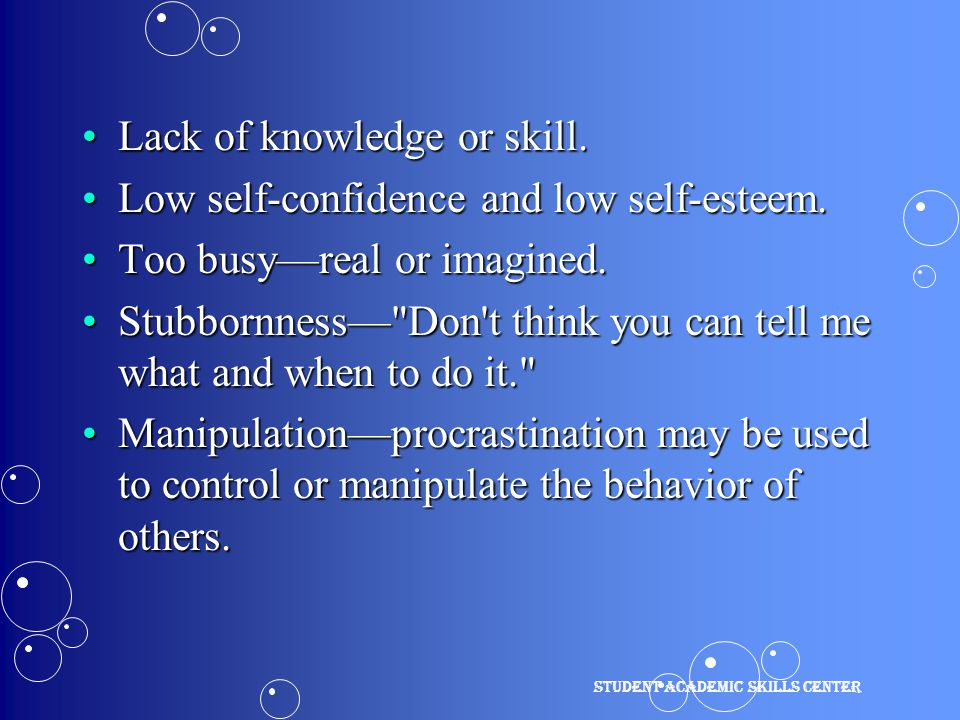 Lack of knowledge or skill.Lack of knowledge or skill.
